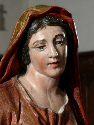 Vierge de Pitié, détail